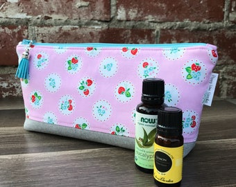 Perfect Essential Oil Pouch / Pink Strawberry Essential Oil bag