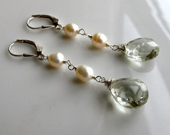 Bridal Prasiolite Earrings