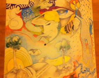 Crayon de couleur dessin «Yeux» par Todd Peck