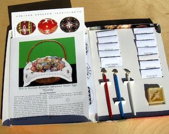Delrin Ukrainian Egg Decorating Kit - 3 Kistky, 12 Dyes