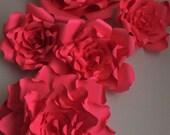 Giant red Paper flower ba...