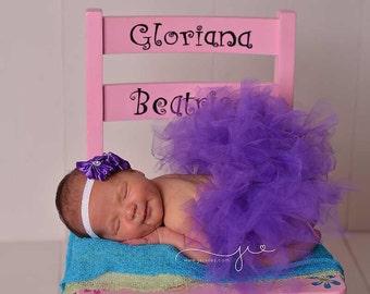 Newborn Tutu, Baby Tutu, Tutu Set, Newborn Tutu Set, Purple Tutu Set, Baby Tutu Set, Purple Tutu, Photo Prop, Tutu, Tutu Skirt,