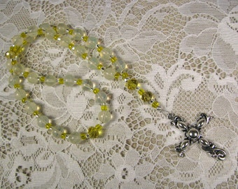 Anglican Prayer Beads-Rosary-Yellow