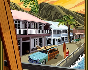 Lahaina, Hawaii (Art Prints available in multiple sizes)