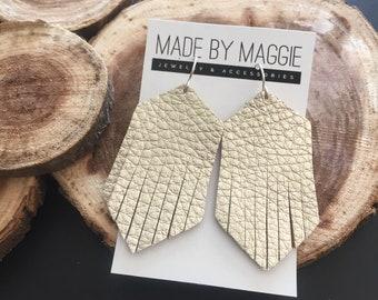 Leather Earrings - Leather Fringe Earrings