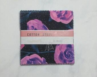 Cotton + Steel Eclipse - Fabric Bundle - Charm Pack - 5 x 5 Inches Square Bundle