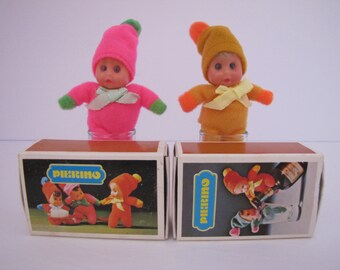 Vintage 1970s Pierino Match Box Dolls