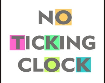 No ticking clock mechanism / silent clock