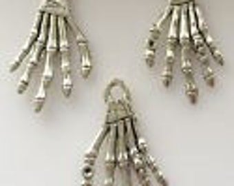 Silver Charms Skeleton Hand w/ring x4