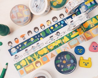 Yohand Washi Tape - Full Set of 5 - Version 4