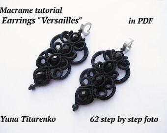 """Macrame Earrings tutorial """"Versailles"""""""