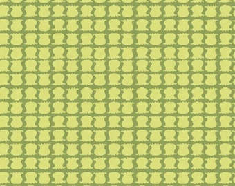 Monaluna - Meadow - Little Lilies - organic quilting cotton fabric light and dark green little flowers floral tulips