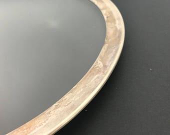 Dorothy Thorpe Silver Rimmed Platter