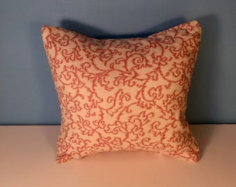 "12x12"" Decorative Geometric Pillow Cover - Pink Floral 12x12"