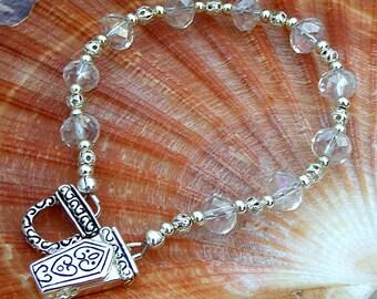 Sterling Silver Bracelet, Moonstone, Jewelry