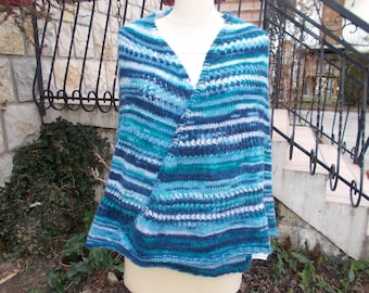 Blue ombre shawl
