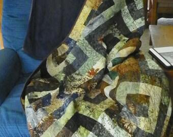 Forest Mint lap quilt
