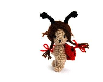crochet ladybug, little ladybug doll, insect doll, ladybug collectible, miniature ladybug, amigurumi ladybug, stuffed ladybug, small bug