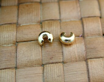100 pcs 4mm Gold Plated Crimp Covers