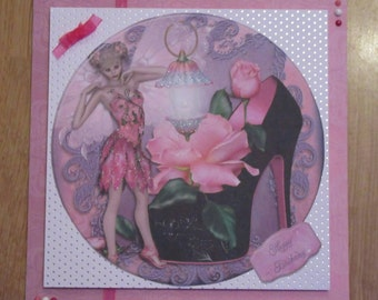 Handmade Fairy card