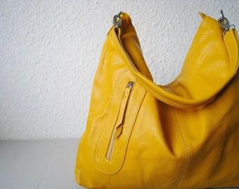 Yellow leather handbag - Max