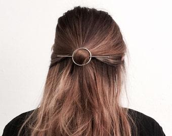 Circle bar hair pin, minimal hairpin, simple hair pin