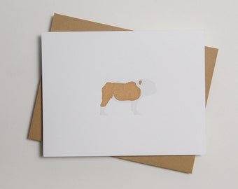 Big Girl - Bull Dog - Letterpress Dog Card