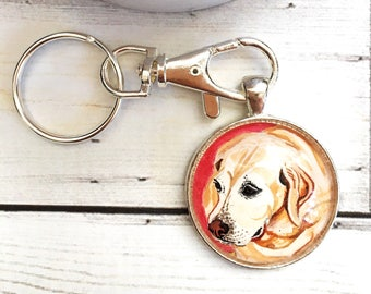 Dog Keychain- Dog Lover Gift- Labrador Gifts- Dog Memorial Keychain- Pet Memorial Keychain- Dog Painting- Pet Loss Gifts - For Him
