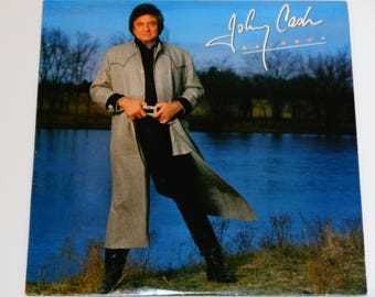 """Johnny Cash - Rainbow - """"Have You Ever Seen the Rain"""" - """"I'm Leaving Now"""" - Country - Columbia 1985 - Vintage Vinyl LP Record Album"""