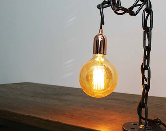 Roll Chain Industrial Style Table Desk Lamp Light