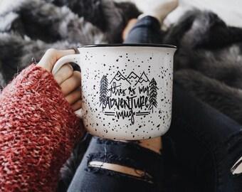 Campfire Mug // This Is My Adventure Mug //Ceramic Campfire Mug