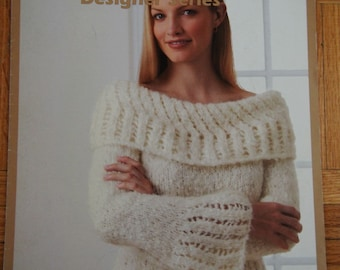 Women's Knit Sweater Pattern - Instant Download Knitting Pattern - Divine Lacework Sweater - Patons Designer Series - Instant PDF Download