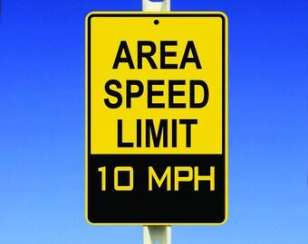 10 MPH Speed Limit Aluminum Sign