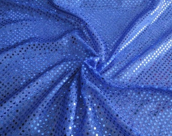 "Royal blue Exclusive Small sequin fabric 3 mm fabrics, ""fabrics-City"", 2423"