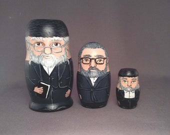 Hasidic Jew Nesting Dolls - Set of 3
