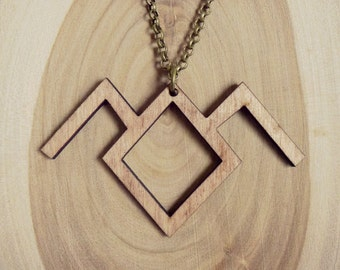 Owl Cave Symbol Necklace