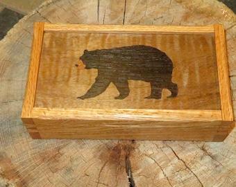 American Black Bear Marquetry Box