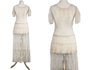 1930s /Edwardian Lace Dress