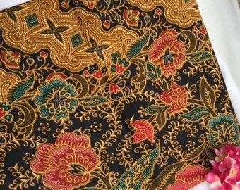 Adelia - Authentic Malaysian Hand Painted Batik (Black)