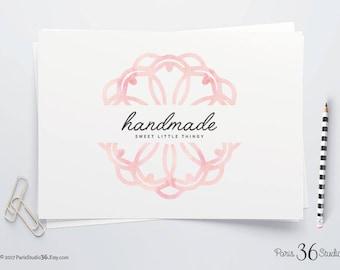 DIY PSD Logo Watercolor Mandala Logo DIY Logo Template Instant Download Logo Premade Logo Photography Logo Website Logo Blog Logo Yoga Logo