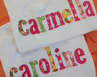 The Name Shirt--A Collage of Pink Green Yellows