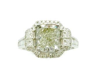 4.51CTTW Cushion Center Diamond Ring