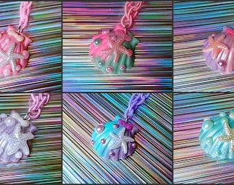 mermaid shell necklace Soft Grunge, kawaii,soft grunge, lolita,harajuku,fairy kei,Pastel Goth