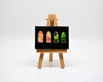Fall through the Windows - Mini Canvas w/ Easel