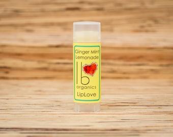 BACK in STOCK for SPRING! Organic Lip Balm // Ginger Mint Lemonade