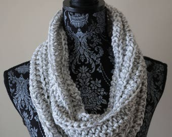 Grey and White Cowl