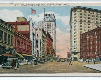 Playhouse Square Cleveland Ohio 1920c postcard