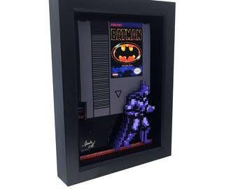 Nintendo Batman NES Batman Nintendo Art Nintendo Cartridge Retro Video Game Decor Video Game Art Batman Art Batman 1989 Print Nintendo Print