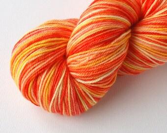 SALE - Citrice - Sqwish Snuggle Toes Fingering Weight Sock Yarn - Superwash - 100 grams