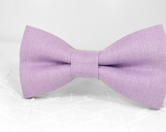 Lavender bow tie, purple bow tie, lavender wedding linen bow tie, bow tie for men, groomsmen bow tie, mens bow tie, kids bow tie